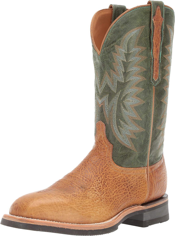 Lucchese Bootmaker Men's Rudy Western Boot, Cognac Green, 12 D US