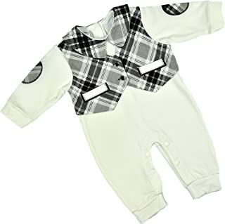 ALM Kids Baby Rompers one piece variations Grey-Black Combination & White-Black Combination for baby boy baby girl from Ne...