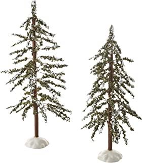 Department 56 Village Mountain Pine Trees (Set of 2)