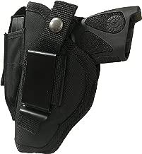 Nylon Gun Holster fits S&W Smith & Wesson M&P 380 Shield EZ Gun Slinger Holster Black Nylon Ambidextrous Use Left or Right Hand Built In Magazine Holder Adjustable Retention Strap