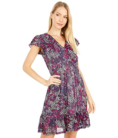 MICHAEL Michael Kors Zinnia Ruched Mini Dress (Azalea) Women