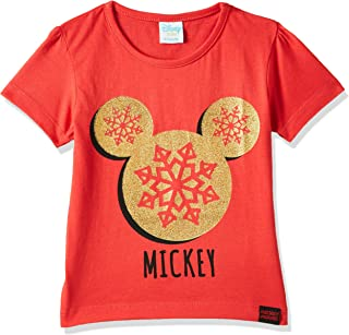 Disney Baby Boys Mickey Mouse T-Shirt, Red, 6-9 Months