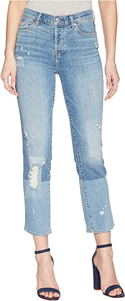 7 For All Mankind Edie w/ Patches in Laser Patched Denim