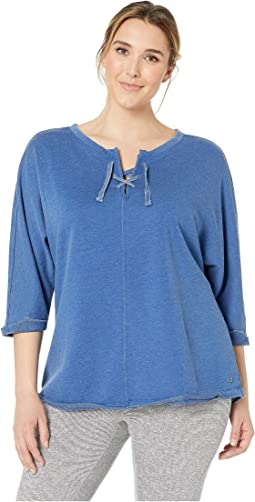 Plus Size Debbie Lace-Up Sweatshirt