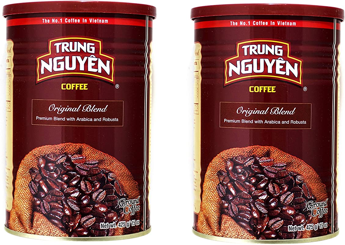 Trung Nguyen Original Vietnamese Coffee 15 Ounces 2 Cans