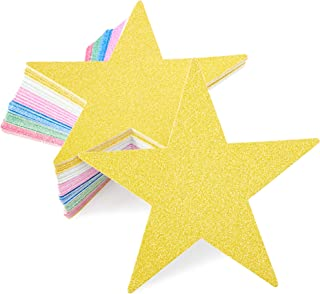 Bright Creations Paper Junkie Glitter Star Cutouts (60 Count), 6 Colors