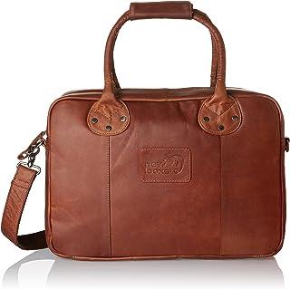 New Looxs Luca Leather Sacoche Porte-Bagages/Sac de Bureau Mixte, Cognac, 40 x 32 x 10 cm