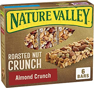 Nature Valley Almond Crunch Roasted Nut Brittle Bars,1.24 Ounce, 6 Count