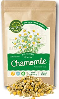 Eat Well Premium Foods - Chamomile Flowers Tea 4 oz Reseable Bag, Chamomile Tea Loose Leaf ,Dried Chamomile Herbal Tea , R...