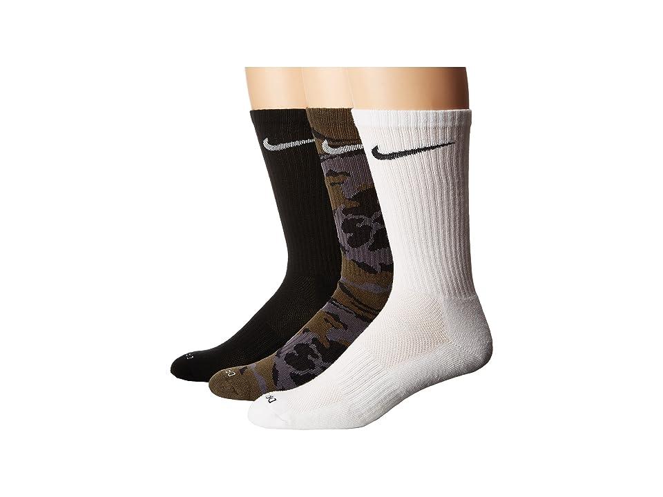 Nike Dri-FIT Cushion Socks 6-Pair (Multicolor 2) Men's Crew Cut Socks Shoes, Black