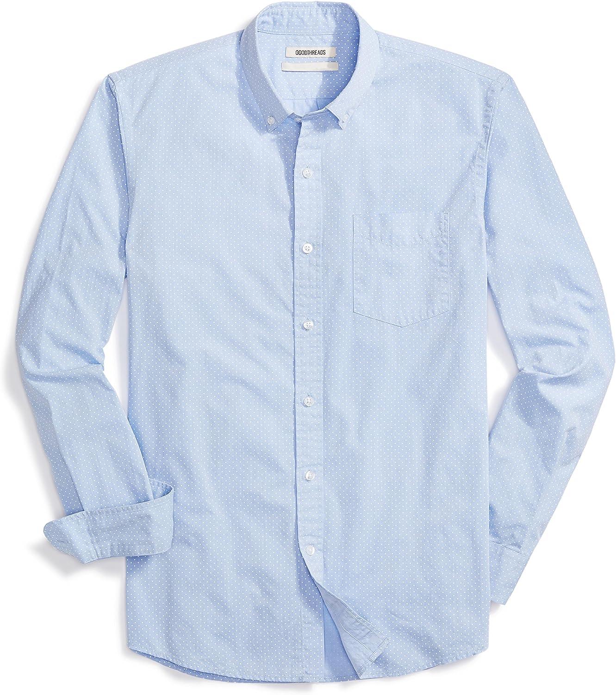 Amazon Brand - Goodthreads Men's Standard-Fit Long-Sleeve Dot Shirt