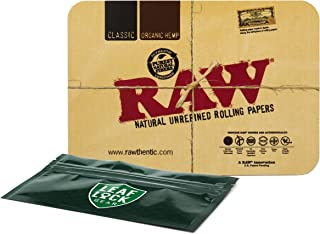 RAW Magnetic Mini Rolling Tray Cover with Leaf Lock Gear Smell Proof Pouch