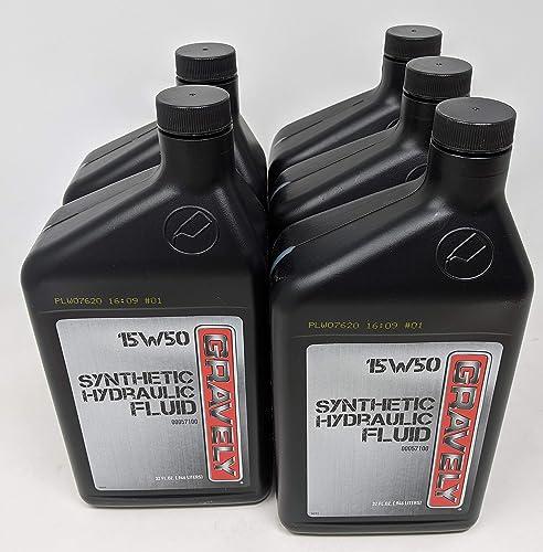wholesale Gravely (5-Pack) lowest 15W50 sale Synthetic Hydraulic Fluid Quart 00057100 online sale