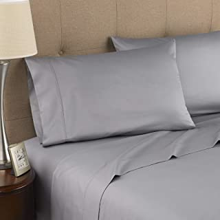 Strick & Bolton Fitzgerald 300 Thread Count Certified Organic Sheet Set Grey King 4 Piece