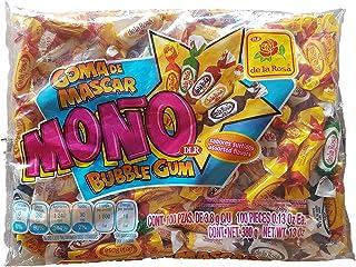 Original De la Rosa Mono Chewing Gum 390g/13.0oz Classic Mexican version individualy wrapped