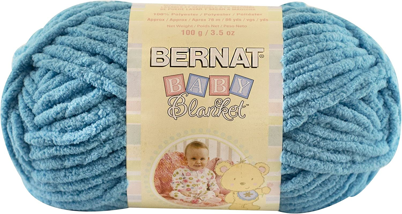 Baby Blue Gauge 6 Super Bulky Bernat Baby Blanket Yarn 3.5 oz