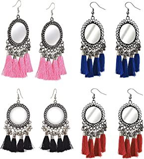 YouBella Ethnic Jewelry Bollywood Traditional Afghani Gypsy Earrings combo for Women and Girls