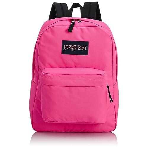 JanSport T501 Superbreak Backpack - Fluorescent Pink 53acb83a8ea17