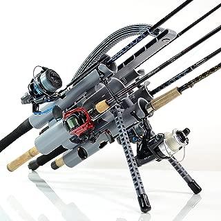 Rod-Runner Fishing Rod Rack | PRO 5 Portable Rod Holder | Gray