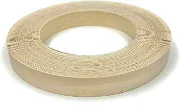 """Edge Supply Birch 3/4"""" X 25' Roll of Plywood Edge Banding – Pre-glued Real Wood Veneer Edging – Flexible Veneer Edging – Easy Application Iron-on Edge Banding for Furniture Restoration – Made in USA"""