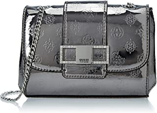 GUESS Women's Dinner Date Shoulder Bag, Color: Silver
