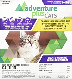 Adventure Plus for Cats 4pk 9lb+