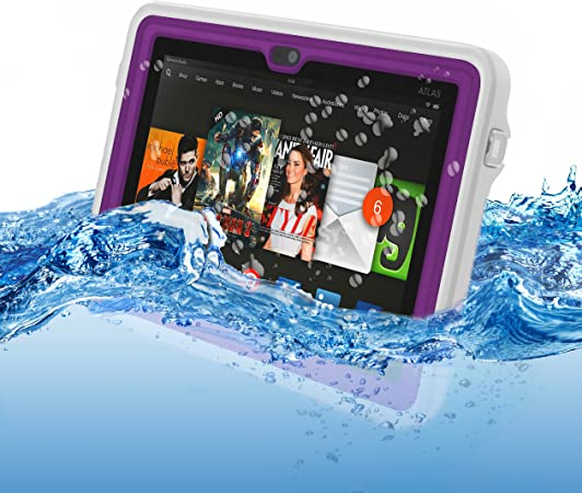 Atlas Waterproof Case For Kindle Fire Hdx 7 By Incipio Purple Kindle Store Amazon Com
