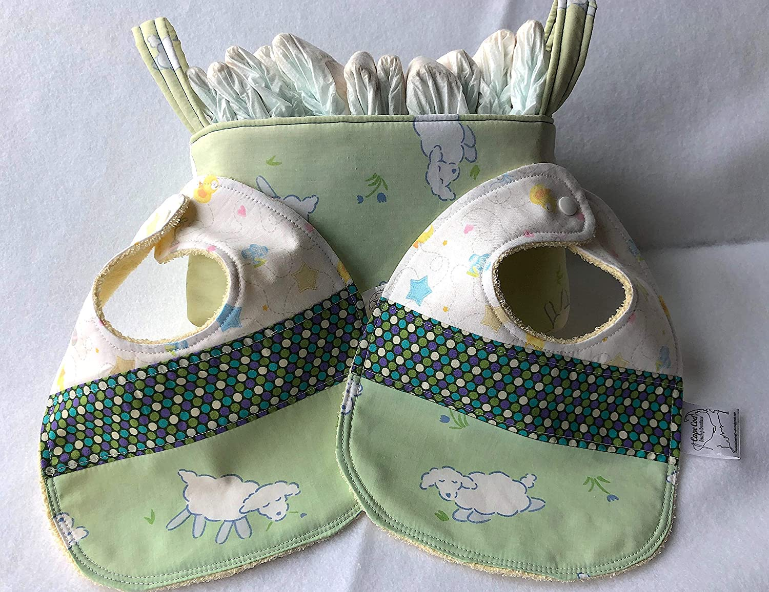 Reversible Diaper OFFicial mail Arlington Mall order Nappy Storage Caddy Baby Bibs Shower and