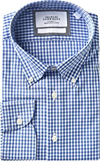 Charles Tyrwhitt Slim Fit Non Iron Mens Dress Shirt with Button Cuff