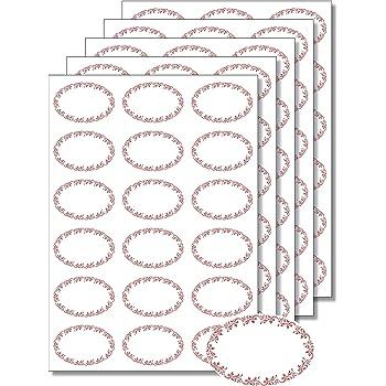 34 x 75 mm Etichette adesive per barattoli di marmellate e conserve casalinghe misure 225 pezzi