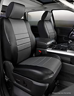 Fia SL67-34 GRAY Custom Fit Front Seat Cover Bucket Seats - Leatherette (Black w/Gray Center Panel)