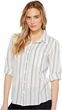 Sea Stripes One-Pocket Roll Sleeve Shirt