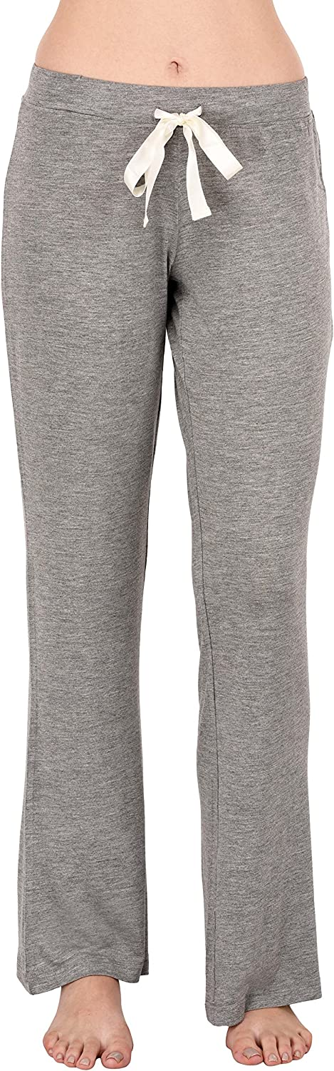 VDRNY Comfy Stretch Solid Flared Pajama Pants for Women Pajamas Sleepwear