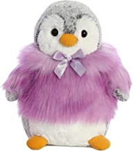 Aurora, 74043, Pompom Penguin, 9In, Soft Toy, Purple