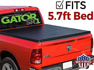 Gator SR1 Roll Up (fits) 2009-2018 Dodge Ram 5.7 Foot Bed Only No RamBox Premier Soft Roll Up Tonneau Truck Bed Cover (55202) Made in The USA