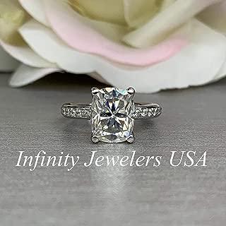 elongated cushion cut halo engagement ring