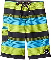 O'Neill Kids - Santa Cruz Stripe Boardshorts (Big Kids)