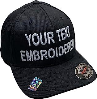 Sombrero personalizado Flexfit 6277 6533 Delta y más bordado. su propio texto curvado Bill