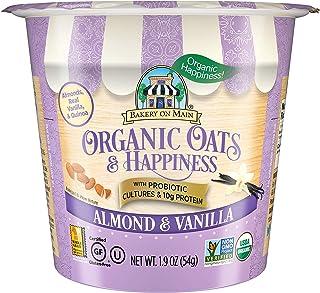 Bakery On Main | Almond & Vanilla | 10g Protein | Probiotic Oatmeal Cups | Gluten-Free | USDA Organic | Non GMO Project Ve...