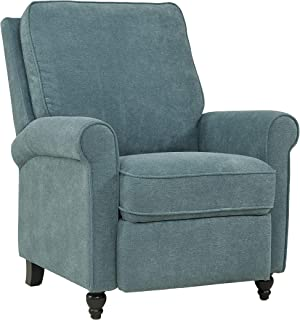 Domesis Chester Hill - Chenille Push Back Recliner Chair, Blue