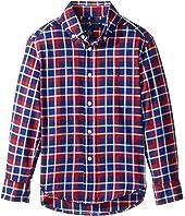 Polo Ralph Lauren Kids - Plaid Cotton Twill Shirt (Little Kids/Big Kids)