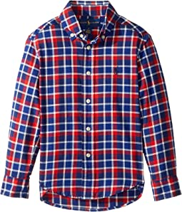 Polo Ralph Lauren Kids - Plaid Cotton Twill Shirt (Little Kids/Big Kids)