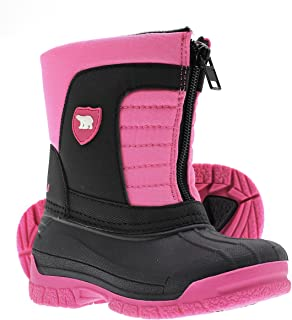 Kids Waterproof Insulated Warm Comfortable Durable Easy On/Off Winter Snow Boots..