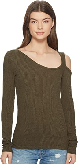 Lucky Brand - One Shoulder Cold Shoulder Top
