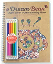 Coffee Lover's Adult Coloring Book- Includes Colored Pencils - Dream Bean