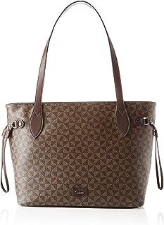 Gabor Barina, Shopper con zip L Donna, Print Brown, L