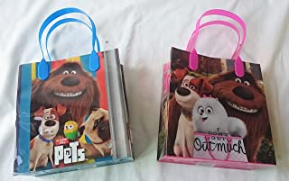 12 pieces The Secret Life Of Pets Party Favor Goody Tote Candy Bag Great Child Birthday Gift- Mixed