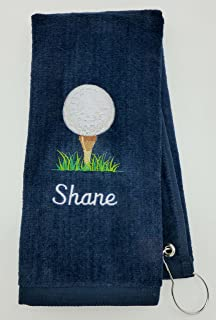 Mana Trading Custom Personalized Embroidered Golf Towel Golf Ball ON TEE