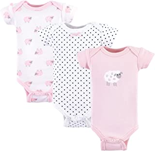 Luvable Friends Baby Girls' Preemie Bodysuit, 3 Pack