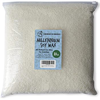 American Soy Organics Millennium Wax - 10 lb Bag of Natural Soy Wax for Candle Making